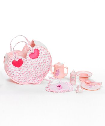 Pink Hungry Baby Accessory Set