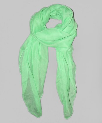 Madeleine Lime Central Park Scarf