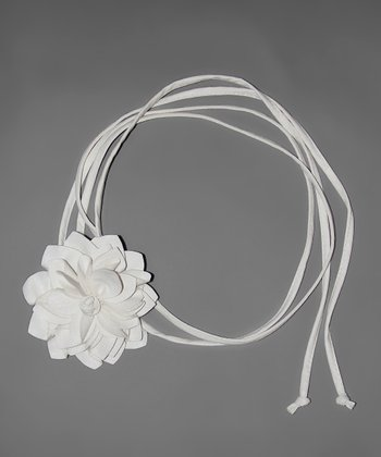White Flower Bump Belt
