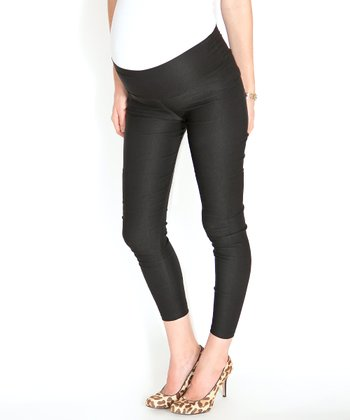 Madeleine Black Under-Belly Maternity Skinny Pants