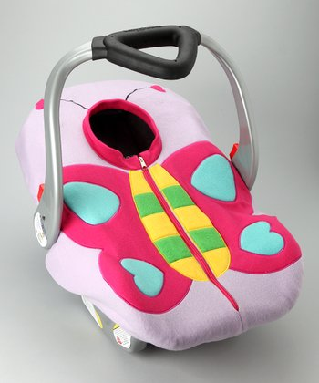 Madeline and Company Butterfly Fleece Car Seat Cover