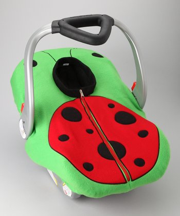 Madeline and Company Ladybug Fleece Car Seat Cover