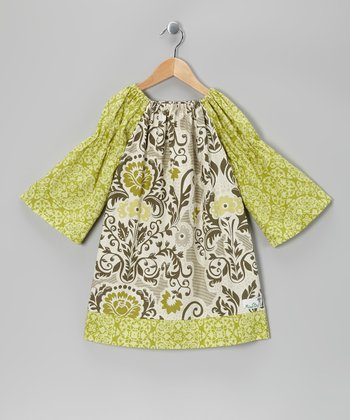 Green Secret Garden Peasant Dress - Toddler & Girls