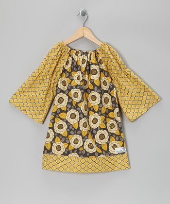 Yellow Bloom Peasant Dress - Infant, Toddler & Girls