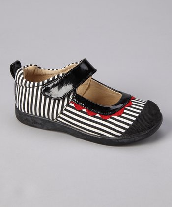 Black & Red Stripe Sadie Mary Jane