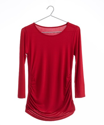 Red Figure T Maternity Top