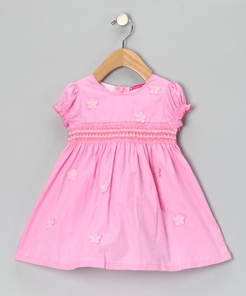 Pink Smocked Daisy Dress - Infant, Toddler & Girls