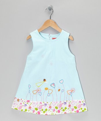Light Blue Garden Dress - Infant, Toddler & Girls