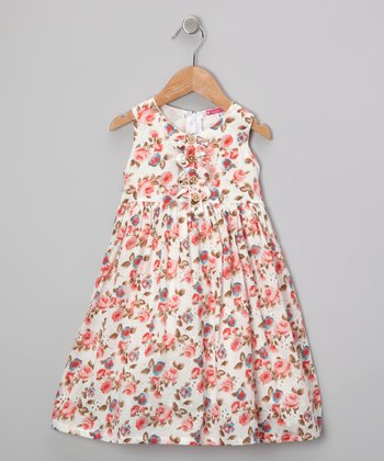 Maggie Peggy Pink Floral Dress