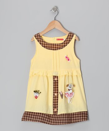 Maggie Peggy Yellow Dolly Gingham Dress