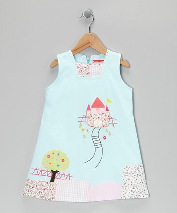 Light Blue Castle Dress - Infant, Toddler & Girls