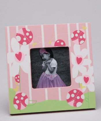 Magnetic Memories Pink Ladybug Small Photo Frame