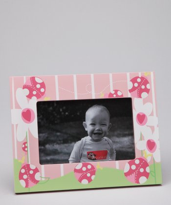 Magnetic Memories Pink Ladybug Photo Frame