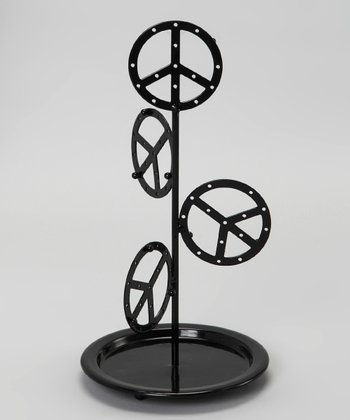 Black Peace Jewelry Hanger