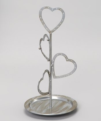 Antique Silver Heart Jewelry Hanger