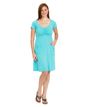 Aqua Gilia Maternity & Nursing Dress
