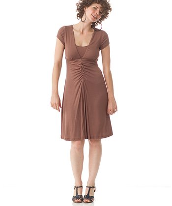 Nutmeg Shiver Maternity & Nursing Dress