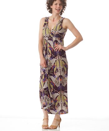 Eggplant Key Largo Maternity & Nursing Dress