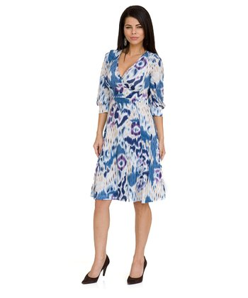 Ikat Rosarito Maternity & Nursing Surplice Dress