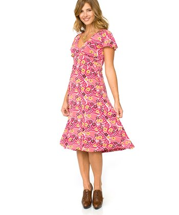 Majamas Fruit Punch Plum Nursing Dress