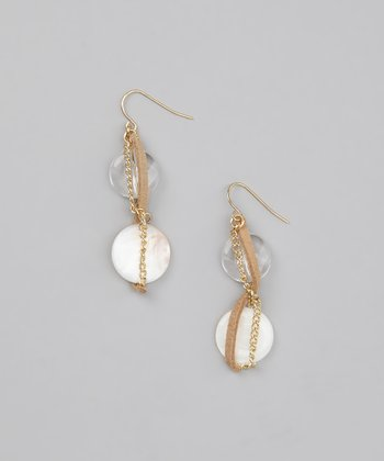 Natural Lucite Shell Earrings