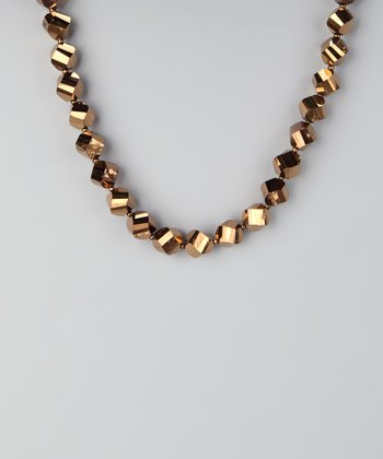 Bronze & Silver Metallic Twist Necklace