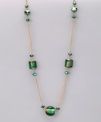 Green Emerald Illusion Necklace