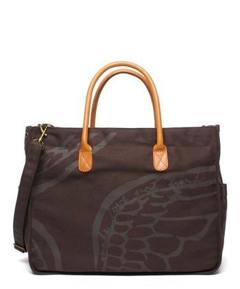 Chocolate Safari Wing Tote