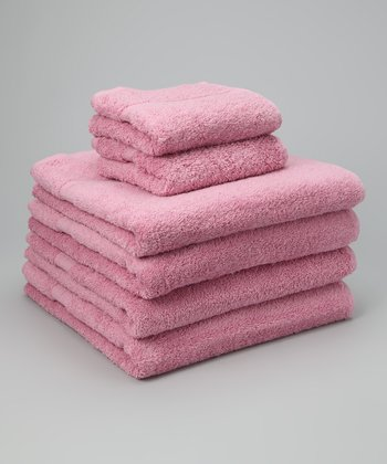 Pink Busseto Towel Set