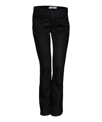 Mama Jeanius Black Joy Under-Belly Maternity Bootcut Jeans