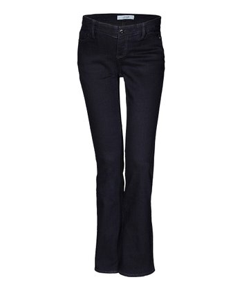 Mama Jeanius Dark Blue Joy Under-Belly Maternity Bootcut Jeans