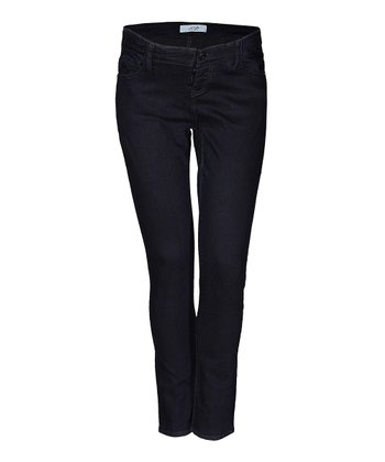 Mama Jeanius Dark Blue Joy Under-Belly Maternity Skinny Jeans