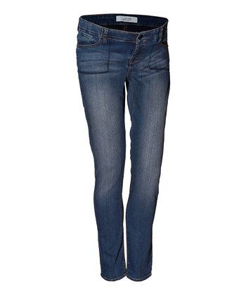 Mama Jeanius Medium Blue Joy Under-Belly Maternity Skinny Jeans