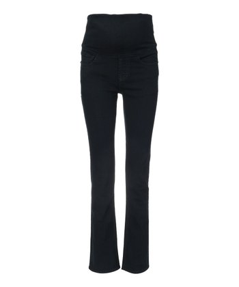 Mama Jeanius Dark Blue Mid-Belly Maternity Straight-Leg Jeans