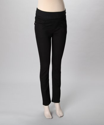 Mama Jeanius Black Life Mid-Belly Maternity Skinny Jeans