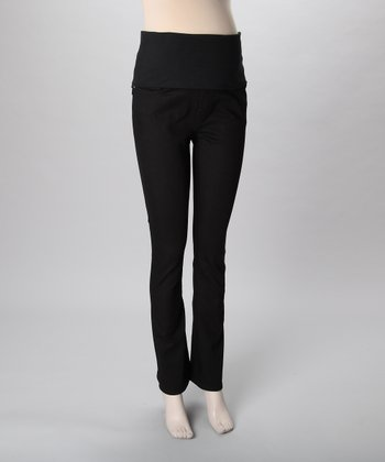 Mama Jeanius Black Love Over-Belly Maternity Bootcut Jeans