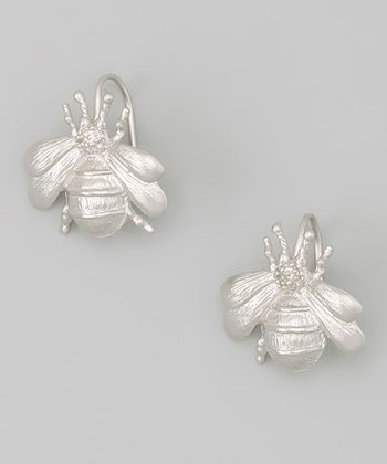 Rhodium Queen Bee Earrings