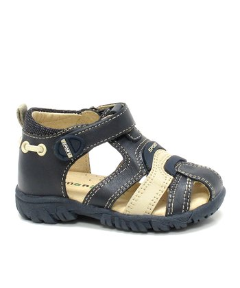 Dark Navy & Light Sand Alan Closed-Toe Sandal
