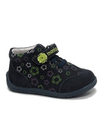 Navy & Green Flower Edith Sneaker