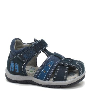 Dark Navy & Indigo Fetzy Closed-Toe Sandal