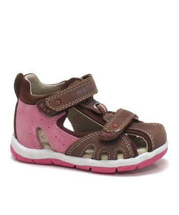 Chestnut & Pink Leila Closed-Toe Sandal