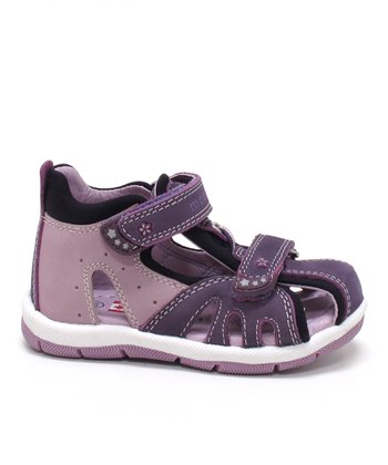 Dark Purple & Lavender Leila Closed-Toe Sandal