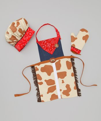 Red Cowpoke Apron Set