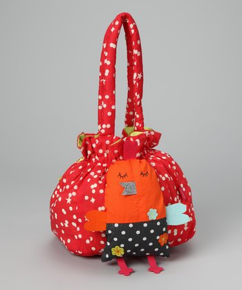 Red Polka Dot & Stars Purse & Birdie Plush Toy