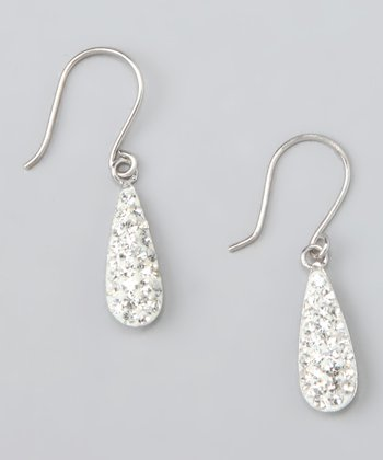 Sterling Silver & Crystal Teardrop Earrings