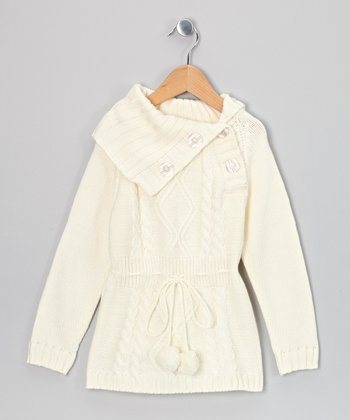 Ivory Alison Sweater Dress - Toddler & Girls