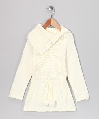 Ivory Sasha Sweater Dress - Toddler & Girls