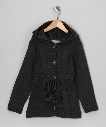 Charcoal Giuliana Duster - Toddler & Girls