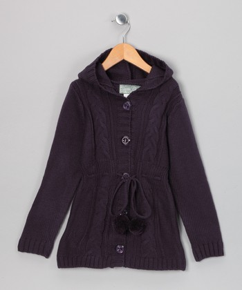 Dark Purple Giuliana Duster - Toddler & Girls