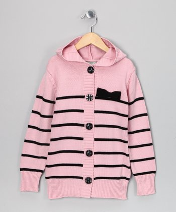 Pink Celeste Stripe Cardigan - Toddler & Girls